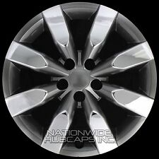 "4 Chrome & Black 2009-2016 Corolla 16"" Hub Caps Full Wheel Covers fit Steel Rims"