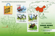 São Tomé e Principe entro il 2015 MNH Hong Kong 31a asiatici INT Exhib IV S / S UCCELLI PAPPAGALLI