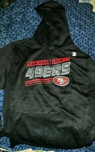 Officially Licensed San Francisco 49ers  Pullover Hoodie Sweatshirt Black - NEW
