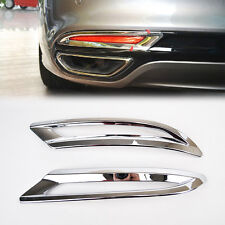 Fit For Ford Fusion Mondeo Chrome Rear Bumper Fog Light Lamp Cover Trim Garnish