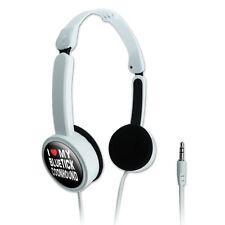 Novelty Travel Portable On-Ear Foldable Headphones I Love My Dog A-B
