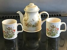 M&S Harvest Teapot & two matching mugs  - Marks and Spencer