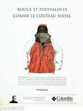 PUBLICITE ADVERTISING 056  2004   Columbia   parka High rout  Titanium