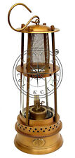 "12"" Vintage Portable Antique Brass Marine Ship Lantern Nautical Miners Oil Lamp"