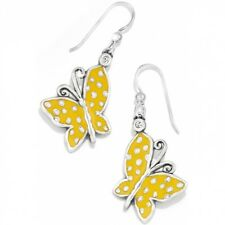 NWT Brighton SUNNY WINGS Butterfly Yellow Enamel French Wire Earrings MSRP $32