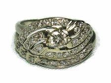 MATCHED PERFECTION Diamond Engagement / Wedding Ring Set 14K Gold & Diamond