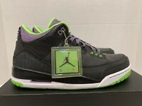 Nike Air Jordan 3 Retro III New DS 10.5 Joker 136064 018 Green Purple Batman SB