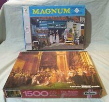 Vintage 1972 Milton Bradley 2000 Piece Magnum Jigsaw Puzzle + 1500 Falcon Puzzle