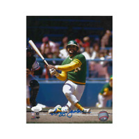 Reggie Jackson Autographed Oakland A's Baseball 8 x 10 Photo JSA Authenticated