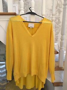 3.1 phillip lim Yellow Cashmere Jumper SizeM