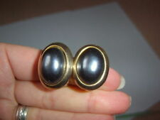 Pearl Oval Clip - On Costume Earrings