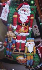 Bucilla NUTCRACKER TRIO Felt Christmas Stocking Kit VERY RARE Factory Direct OOP