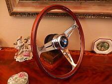 "BMW E9  2800 CS Wood Steering Wheel 15.3""  Hub/Boss Large BMW Horn Button NEW"