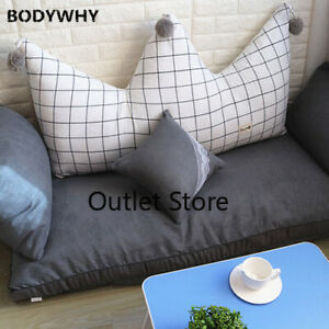Lattice Crown Large Backrest Cushion Double Sofa Bed   Bean Bag Tatami Lazy Sofa