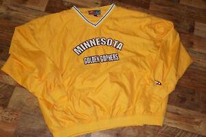 Minnesota Golden Gophers Proplayer Football Pullover Windbreaker Size XXL Yellow