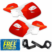 UFO Escalade Universal MX Enduro Handguards in CR-CRF Red Standard, Fat Bars