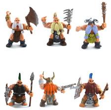 Lot of 6 Dwarf Warriors Berserkers Regiment Action Figures Playset