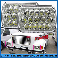 "For International Harvester 4700 4800 4900 8100 7''x6"" LED Headlights Hi-Lo Beam"