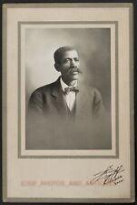 EARLY 1900S BLACK MAN STUDIO PORTRAIT AFRICAN AMERICAN PHOTO ODESSA MISSOURI
