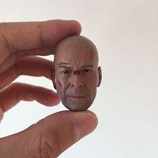 █ Custom Bruce Willis 1/6 Head Sculpt for Hot Toys Body Die Hard GI Joe █