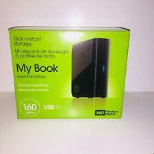 New Open Box WD My Book Essential 160 GB USB 2.0 Desktop External Hard Drive