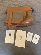 Hartmann Stryker Luggage Tweed Leather Vintage Satchel Carry On Never Used New