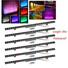 RGB LED Linear Wall Washer Lighting Remote Outdoor IP65 10W DJ Stage Wash 6pcs