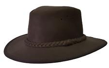 Pudney Zambezi Explorer Oiled Leather Hat with Braided Trim