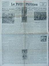 Le Petit Parisien (13 oct 1932) Chancelier du Reich - Mouvault - Japon -