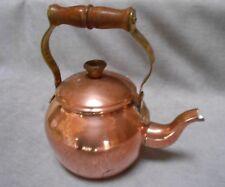 Vintage Euopean COPPER BRASS KETTLE TEA POT marked