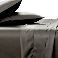 100% BAMBOO SHEET SET 400TC Queen Size New Charcoal Smooth Soft & Anti Bacterial