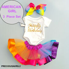 "Doll Clothes 3 piece set ""Happy Birthday"" outfit for 18'' American Girl"