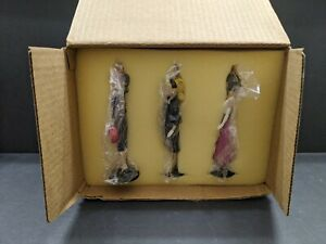 "3 ""Classic Barbie"" Ashton Drake 1995 Heirloom Ornaments in Box"