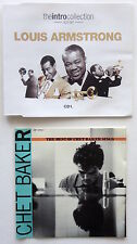 Lot 2 Jazz CDs - CHET BAKER: Best of Chet Sings + LOUIS ARMSTRONG: Intro Coll.
