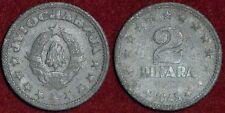 YUGOSLAVIA Југославија Jugoslavija Yougoslavie 2 dinara 1945