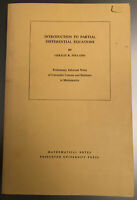 Introduction to Partial Differential Equations Gerald B. Folland 1976 Paperback