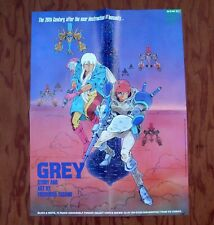 GREY Viz Comics Promotional Poster 1988 Promo
