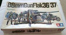 VINTAGE 1/35 SCALE MODEL TAMIYA 88MM GUNFLAK 36/37 GERMAN ANTI /TANK GUN #2