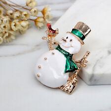 Men Women's Christmas Snowman Brooch Pin Jewelry Suit Dress Decor Gift Fashion