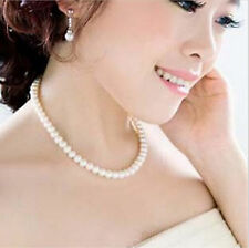 Women's Pearl Jewelry Vintage White Round Bride Bridesmaid Choker Bead Necklace