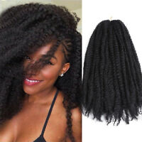 18''Afro Kinky Curly Twist Crochet Braid Ombre Synthetic Braiding Hair Extension