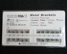 20 Sets Orthodontic Dental Metal Brackets Braces Mini MBT 022 3 Hooks