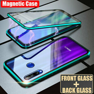 360° Front Rear Glass Magnetic Metal Case Cover for Huawei Honor 20 Pro/Nova 5i