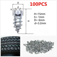 100× Car Truck Wheel Tyres Snow Chains Studs 15mm Screw In Tire Stud Snow Spikes