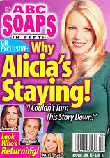ABC Soaps In Depth Magazine January 31 2006 Alicia Leigh Willis Kirsten Storms