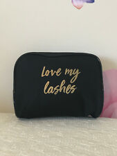 1 Lancome Black Love My Lashes Makeup Cosmetic Bag Travel Case NEW Fall 2017!