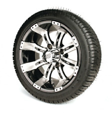 """Golf Cart 12"""" Tempest Wheels On Low Profile Tires - Set of 4"""