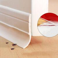 Under Door Rubber Bottom Seal Strip Draft Adhesive Soundproof Wind Bug Stopper
