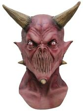 Kalifax Demon Devil Full Head and Neck Latex Mask Fancy Dress Adult