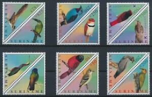 SURINAME 2001 BIRDS STAMPS TRIANGLES 12V MNH TOP133